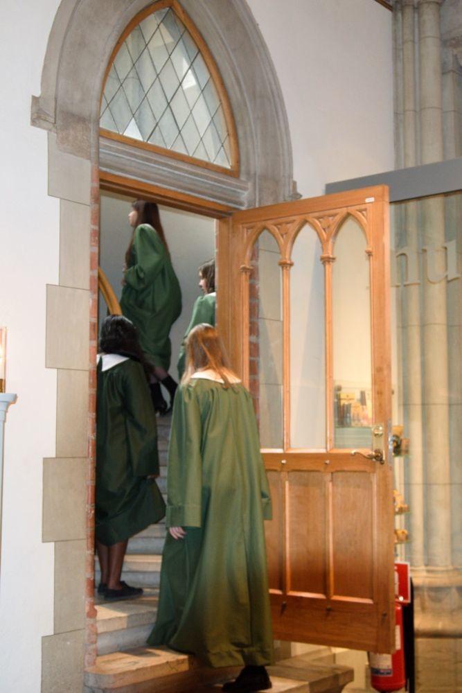 Der Konfirmationsgottesdienst ist gerade zu Ende