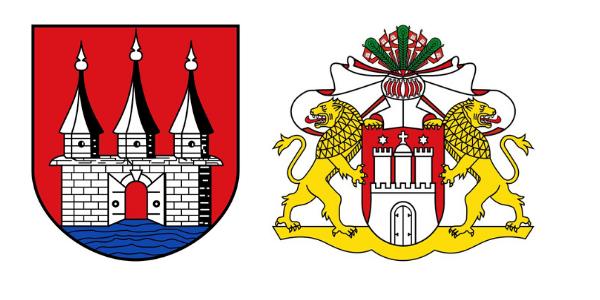 Die Tore Hamburgs (re) sind geschlossen, Altonas stehen offen