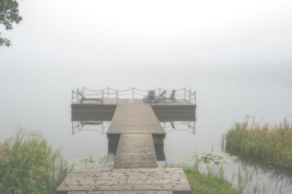 Nebel überm See